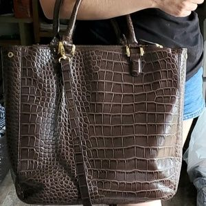THE LIMITED | Large Faux Snakeskin Tote